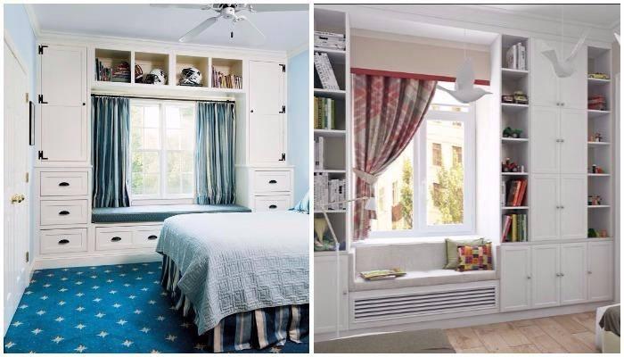 Պահարաններ պատուհանի կողքերին. ոչ միայն գեղեցիկ է, այլև շատ պրակտիկ․ հետաքրքիր գաղափարներ