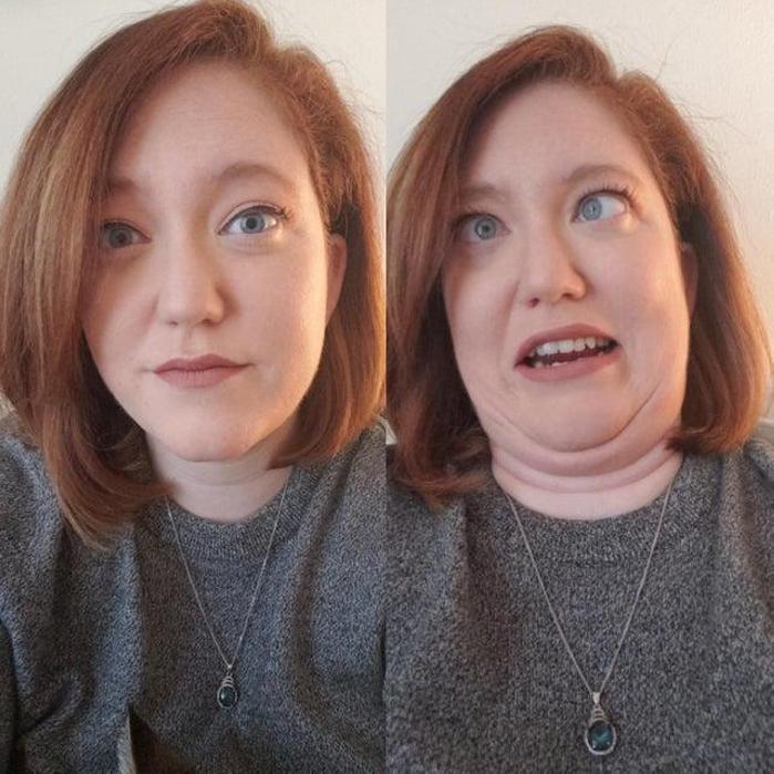 24 գեղեցիկ աղջիկներ, ովքեր փոխվել են մեր աչքի առաջ ՝ զվարճալի ձևով ծամածռելով իրենց դեմքը