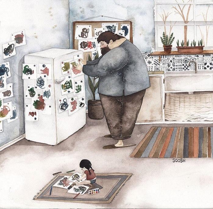 Ջերմ նկարազարդումներ ընտանիքի մասին, որից կհալվի նույնիսկ սառցե սիրտը