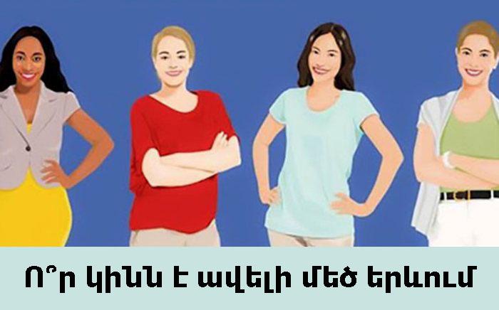 Ո՞ր կինն է ավելի մեծ երևում: Պատասխանը կբացահայտի ձեր անձի գաղտնիքները