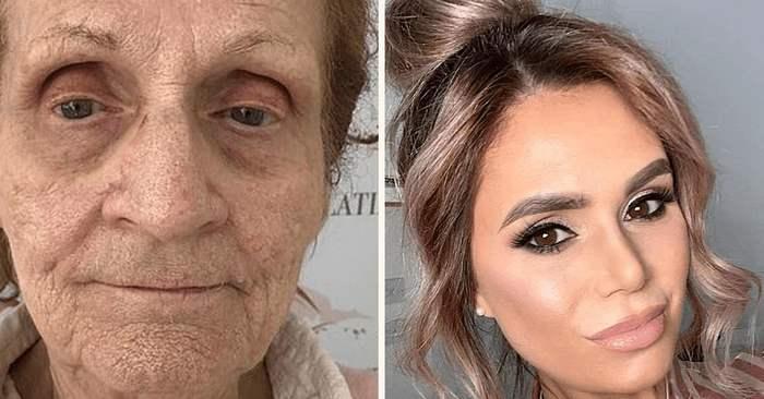 80–ամյա տատիկը եկավ գեղեցկության սրահ, իսկ դիմահարդարները նրան վերածեցին երիտասարդ գեղեցկուհու